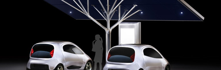 Antares - Photovoltaic Charging Station Designed by Pininfarina for Metalco