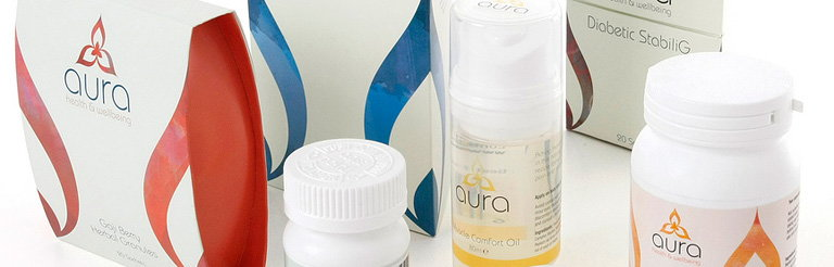 Aura Health and Wellbeing Packaging Design by Burgopak Wins Pentaward