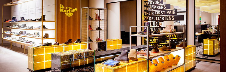 Checkland Kindleysides Designs Temporary Installation for Dr Martens in Selfridges