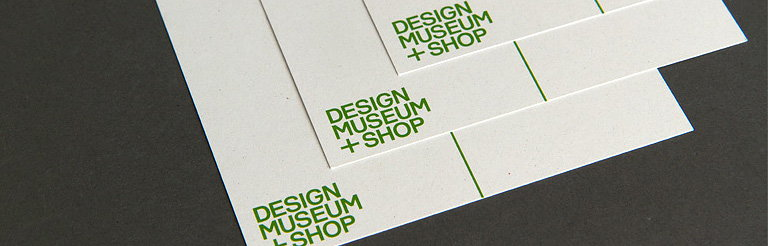 Design Museum Shop Identity by Spin