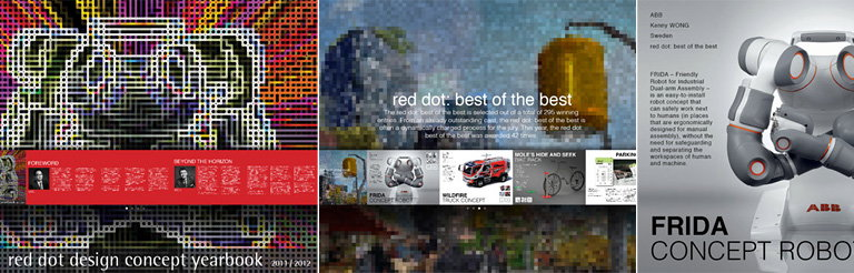 Red Dot Design Concept Yearbook iPad Application