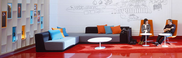 New Reception Areas for Virgin Atlantic Global HQ by Checkland Kindleysides