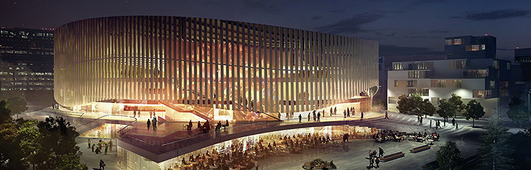 Team Led by 3XN Architects Wins Design Competition for Copenhagen Arena