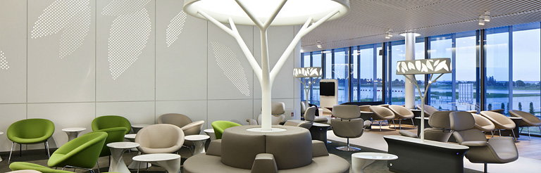 Brandimage Designed the New Air France Business Lounge in Partnership with Noe Duchaufour-Lawrance