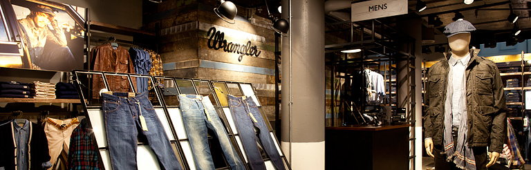 Checkland Kindleysides Designs Concept Store for Wrangler