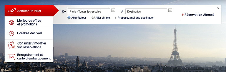 Brandimage Created the New Design for Air France's Homepage