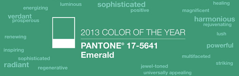 2013 Color of the Year - PANTONE 17-5641 Emerald
