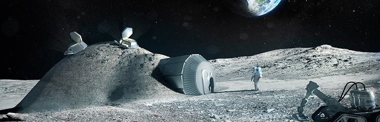 Foster and Partners Works with ESA to 3D Print Structures on the Moon