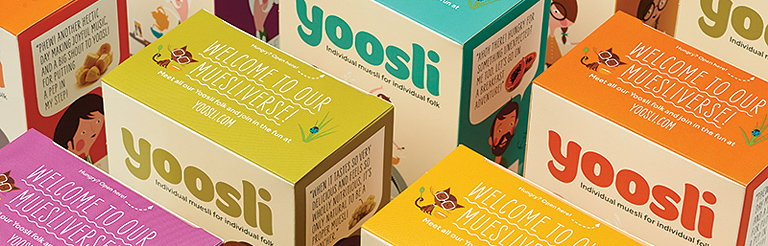 Together Design Creates Branding for Personalized Muesli Concept Yoosli