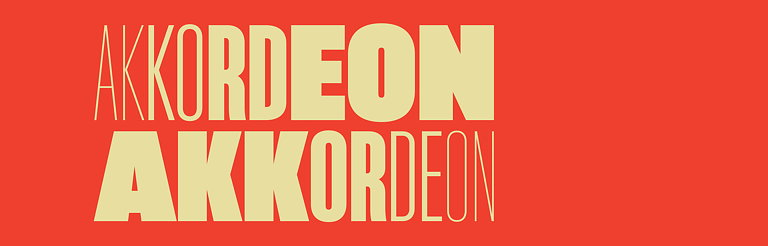 Emtype Foundry Releases Akkordeon