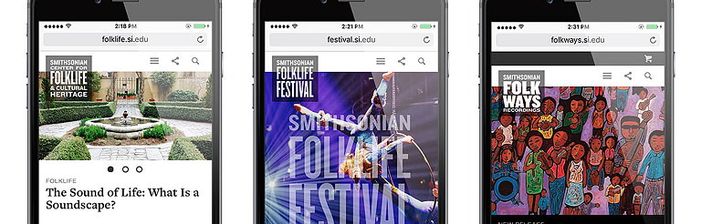 Visual Dialogue Creates New Websites and Identities for Smithsonian Center