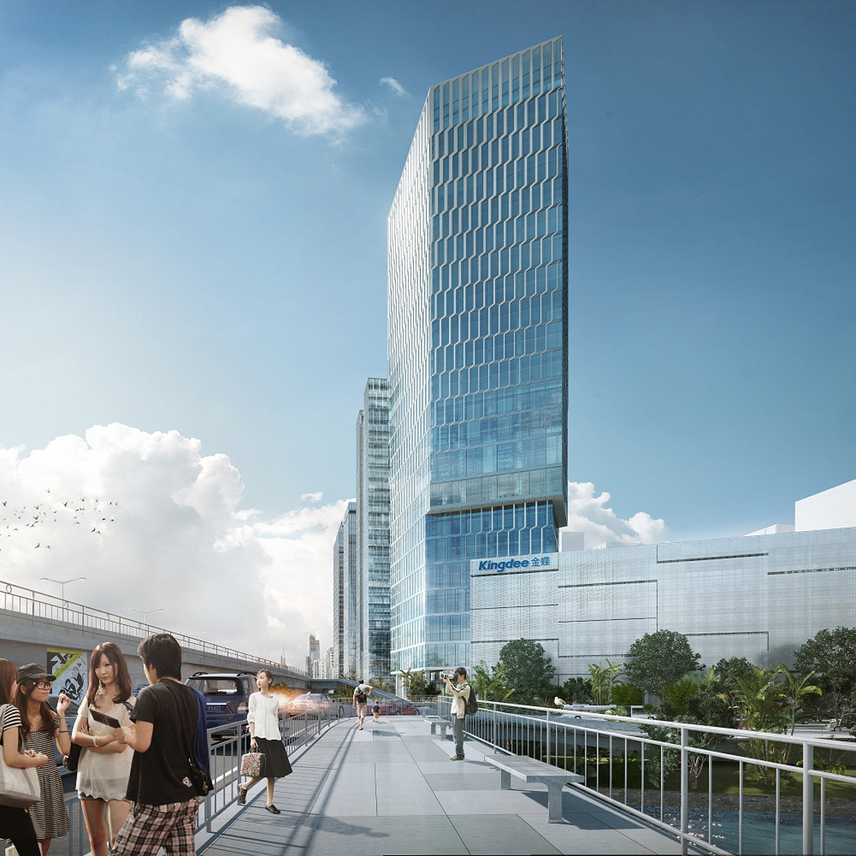 HENN Wins 1st Prize in Competition for Kingdee Tower in Shenzhen