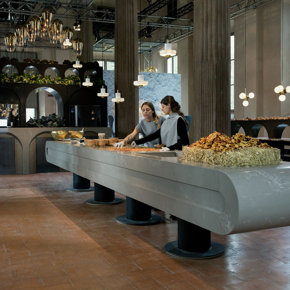 The Restaurant by Caesarstone and Tom Dixon at Salone del Mobile
