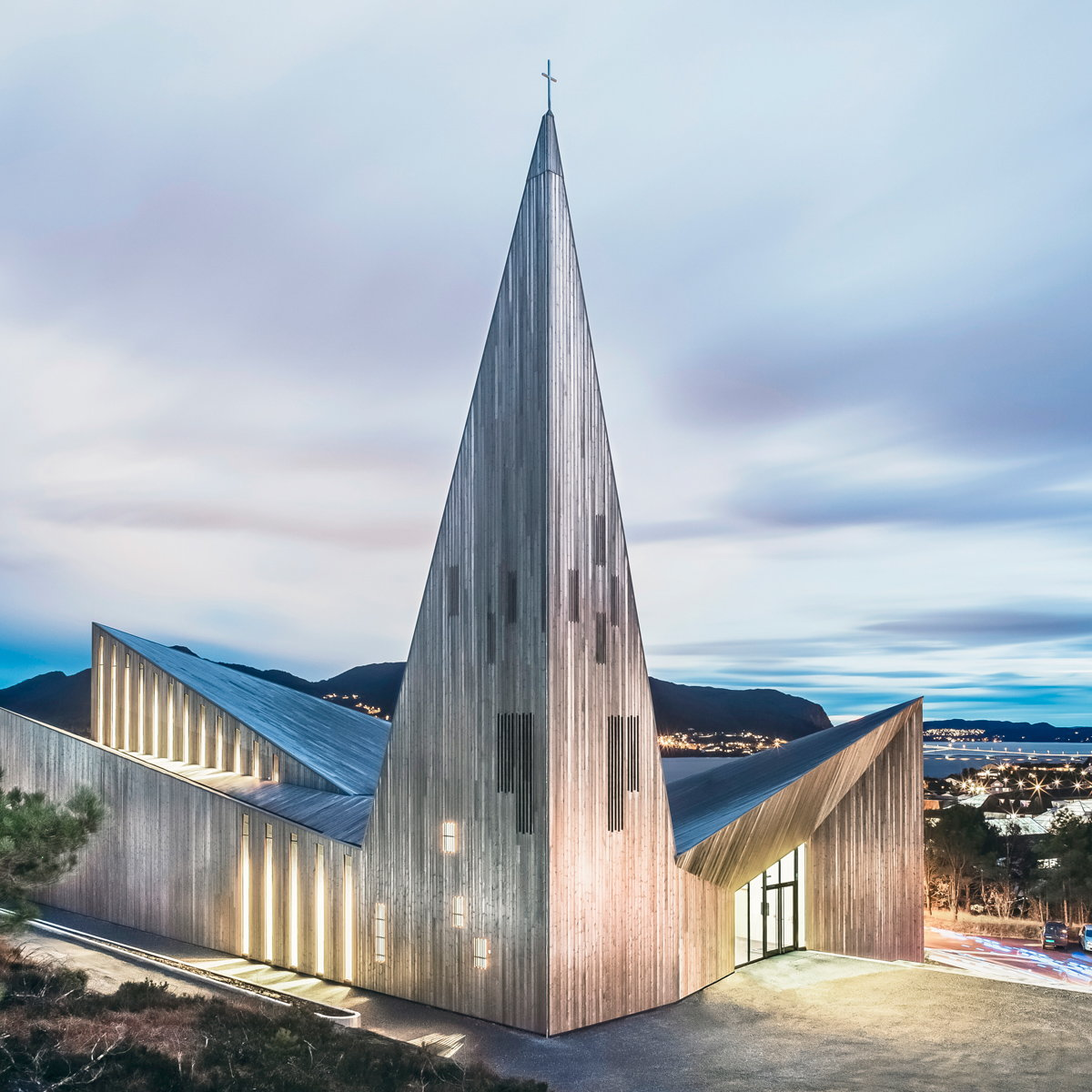 Knarvik Community Church by Reiulf Ramstad Architects