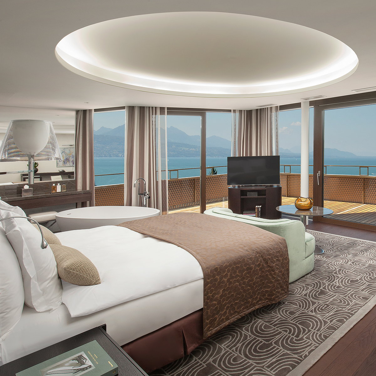Lausanne's Hotel Royal Savoy Officially Re-opens with Interiors by MKV Design