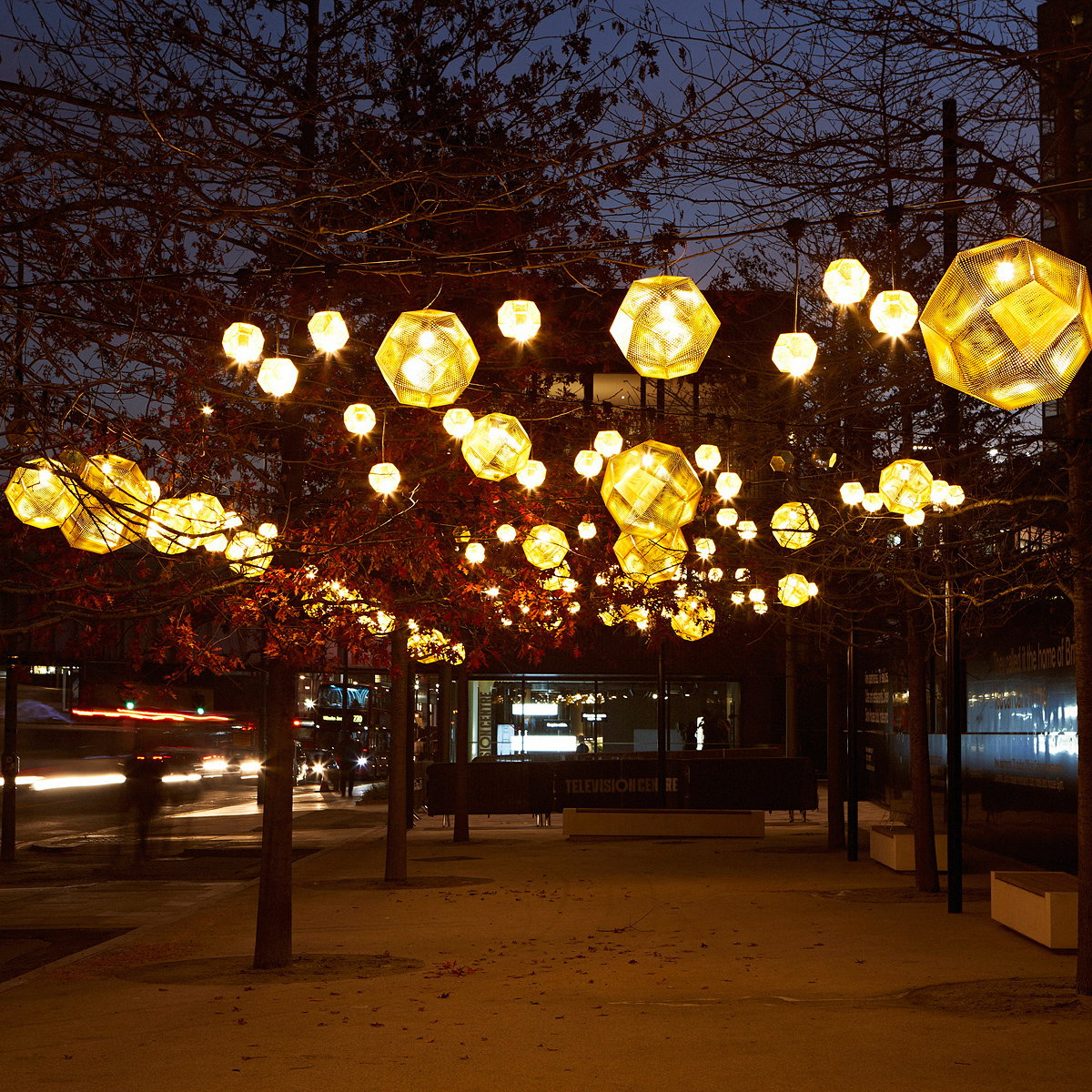 Winter Light Installation at Television Centre by Tom Dixon