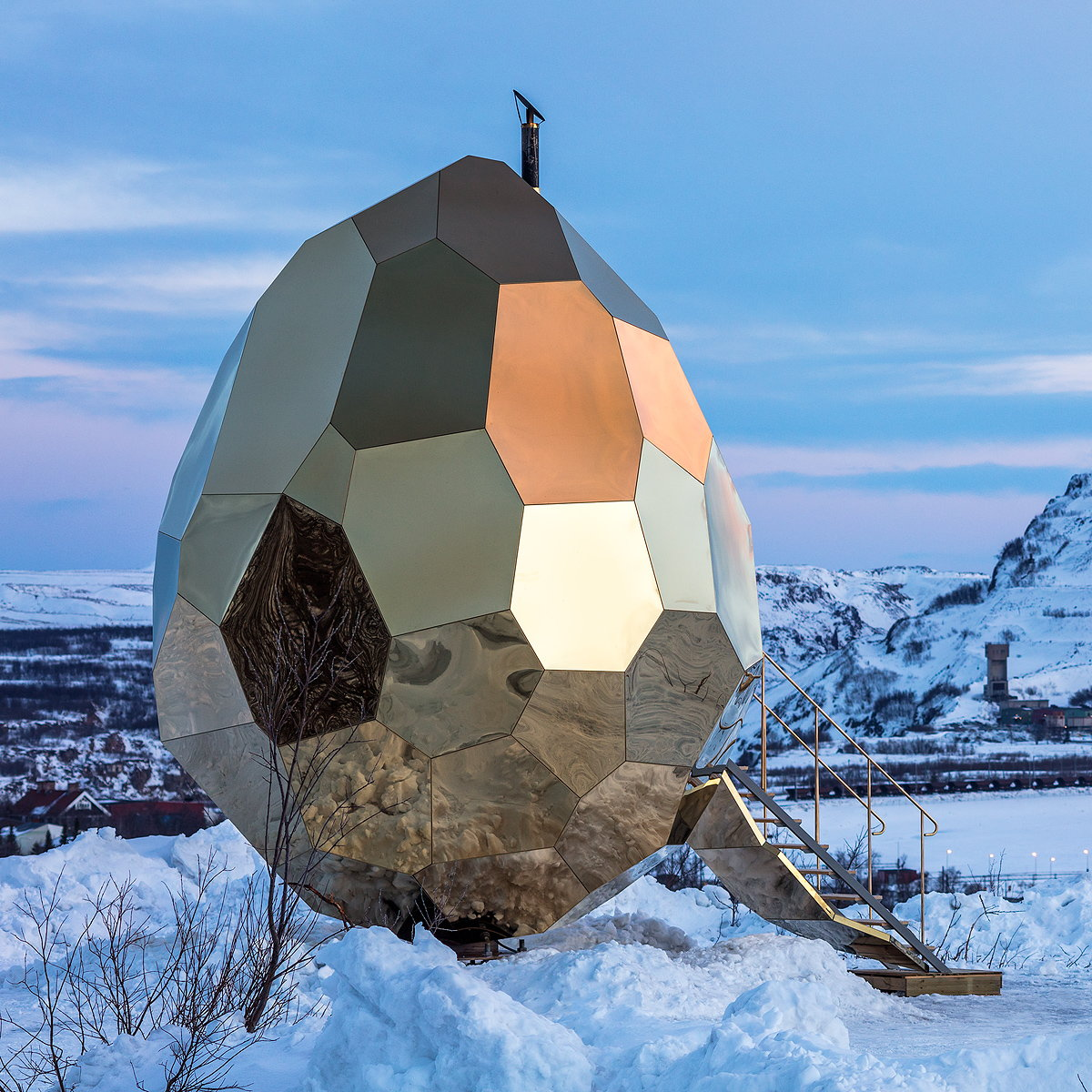 Solar Egg - A Public Sauna Art Installation by Bigert and Bergström
