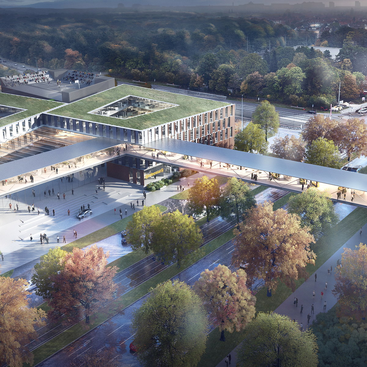 HENN Wins the International Competition for the New Continental AG HQ in Hanover