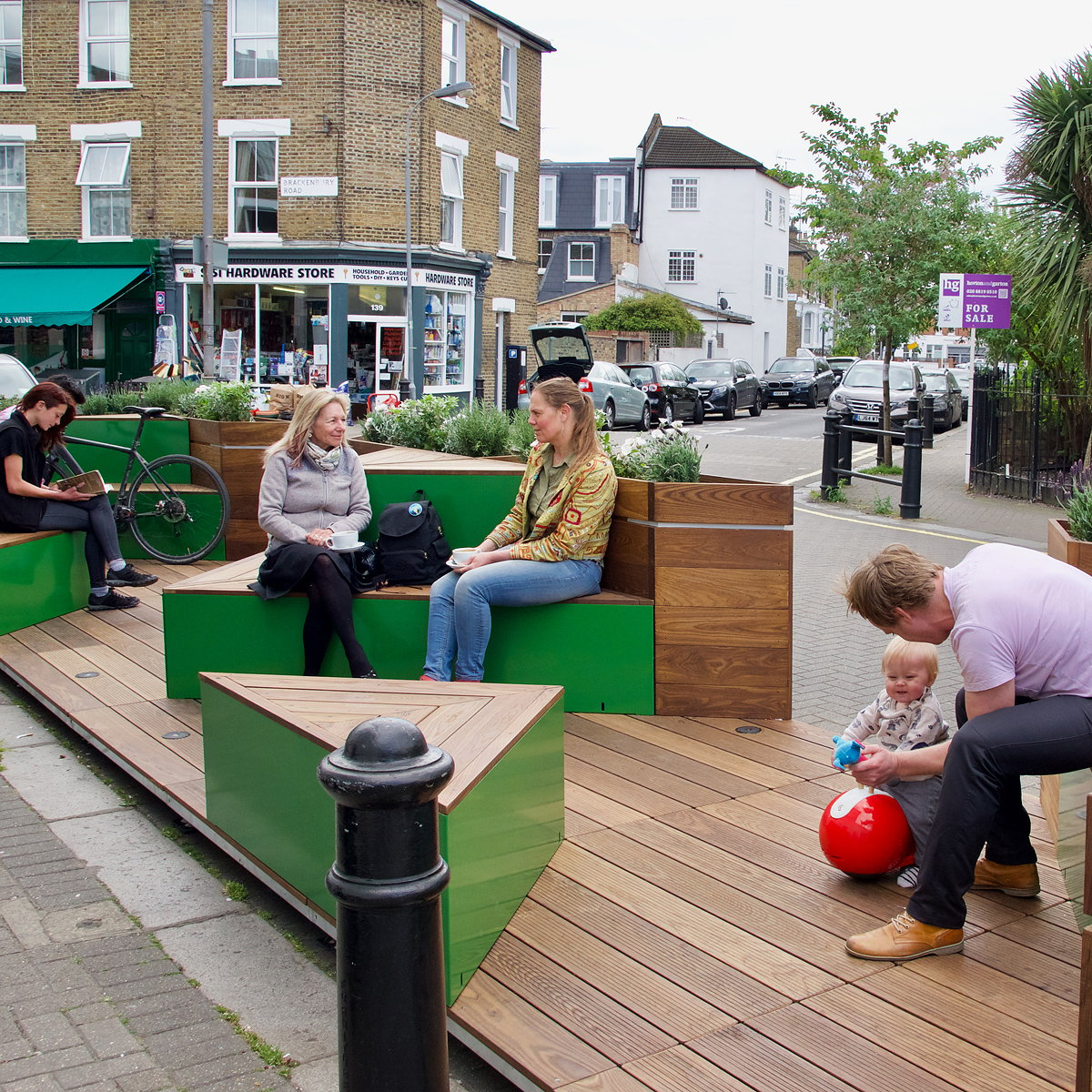 Cyclehoop Parklet Shortlisted for 2017 Healthy Streets Awards
