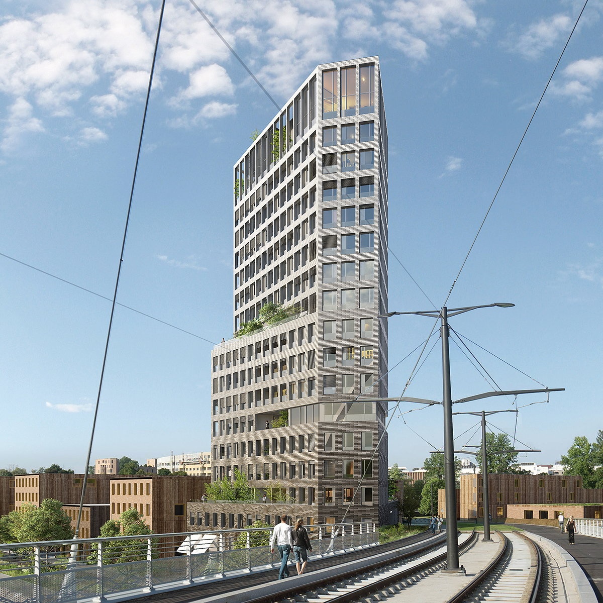KCAP and OSLO Win Competition for Residential Tower in Strasbourg