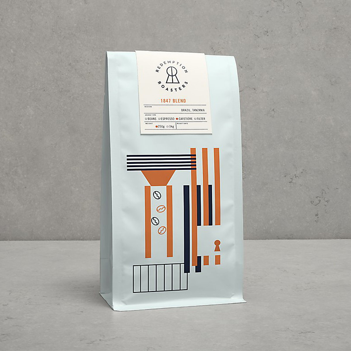 Here Design Creates New Brand Identity for Redemption Roasters