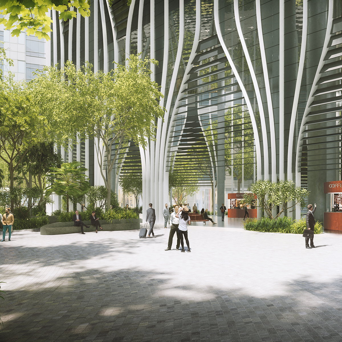 Carlo Ratti Associati and Bjarke Ingels Group Design 280m Green Oasis Tower in Singapore