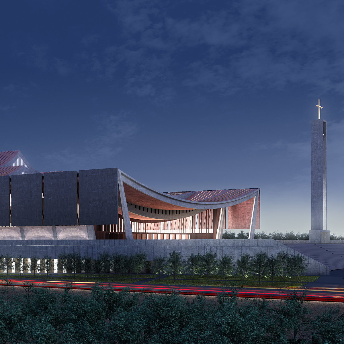 National Cathedral of Ghana by Adjaye Associates