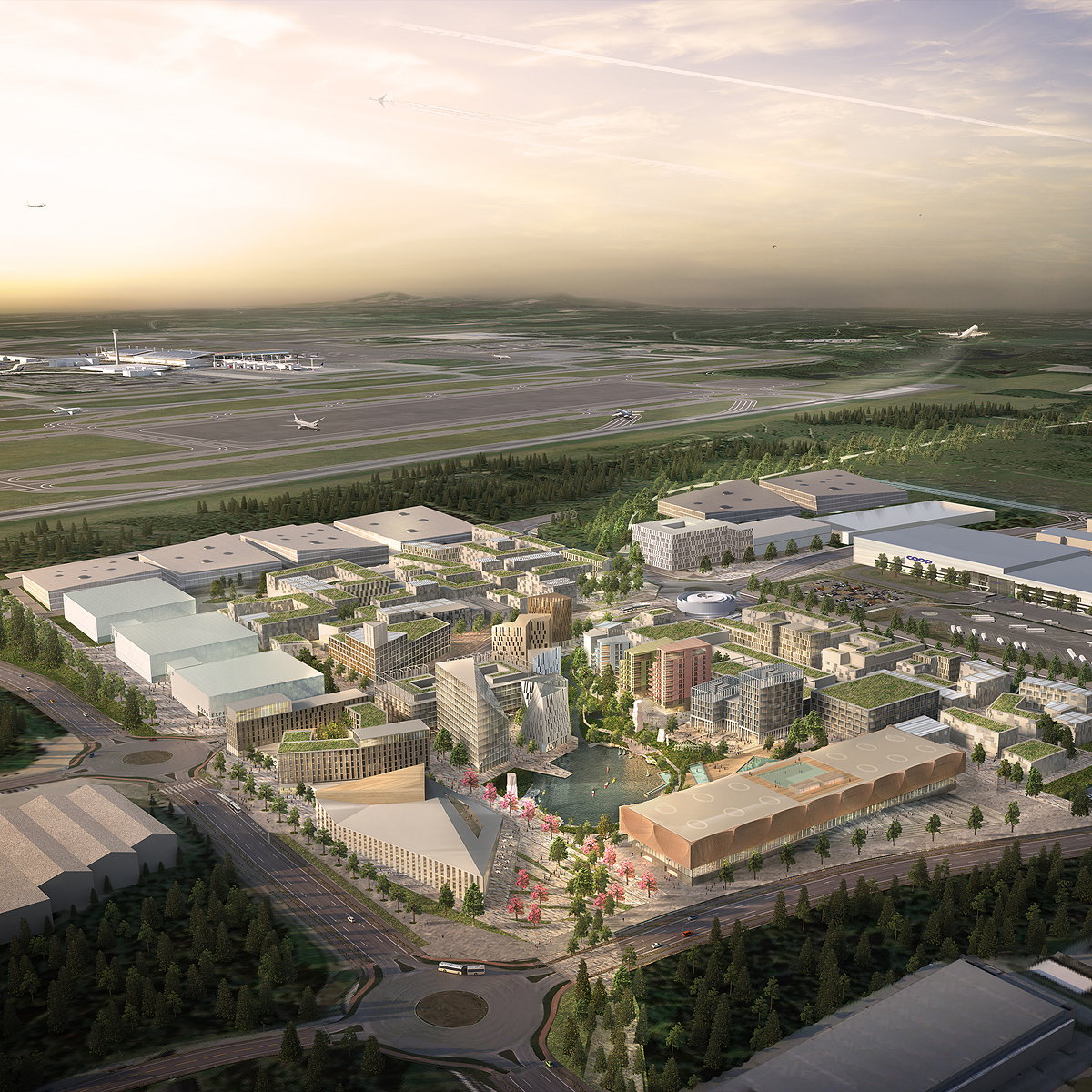 Oslo Airport City by Haptic Architects and Nordic Office of Architecture