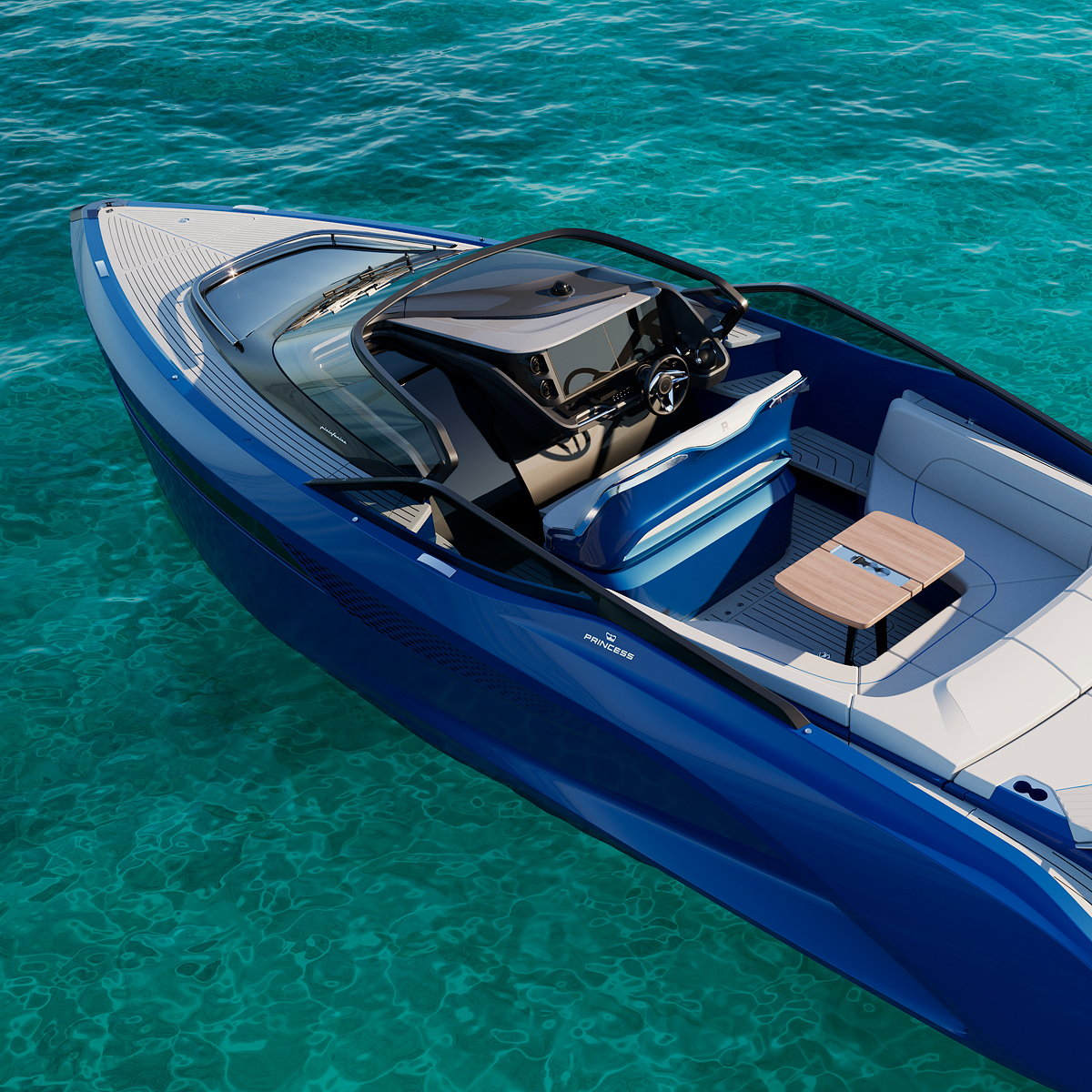 Princess R35 Performance Sports Yacht Designed by Pininfarina