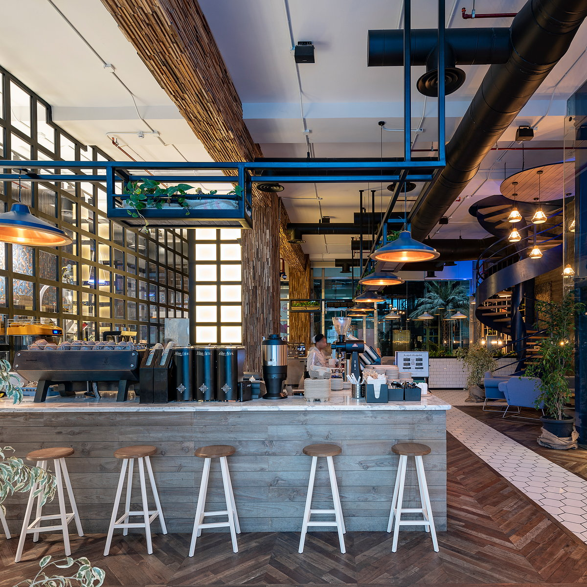 Liqui Design Completes the Interior Design of Brew92's Stunning Flagship Coffee Shop and Roastery