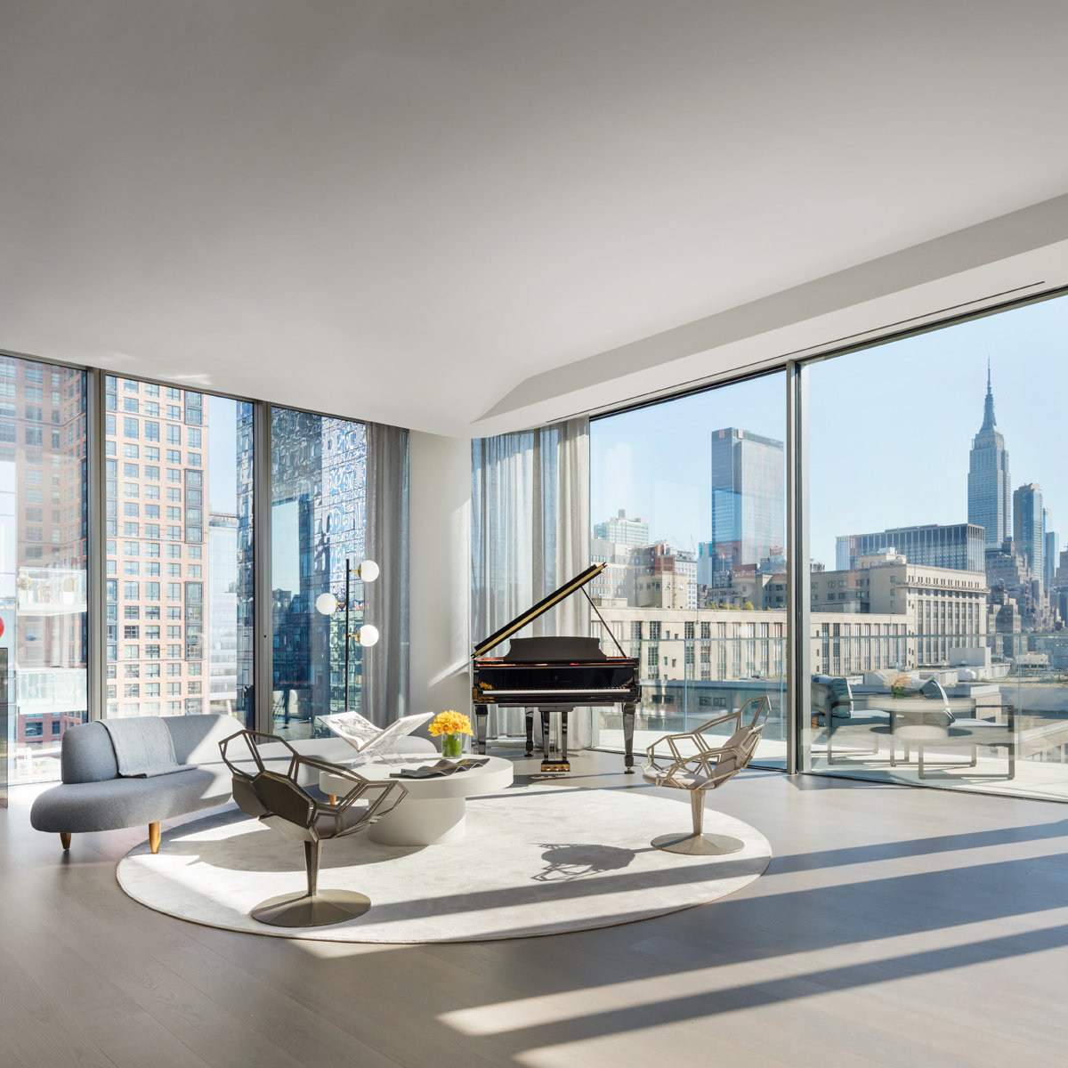 Penthouse Home Revealed Inside Zaha Hadids West Chelsea