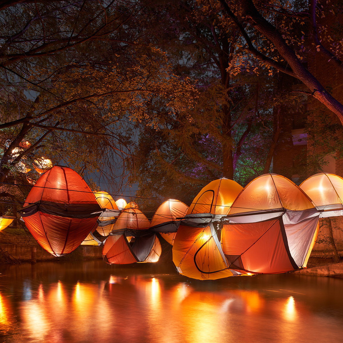 Perkins+Will Unveiled TENTSION at Waller Creek Show in Austin