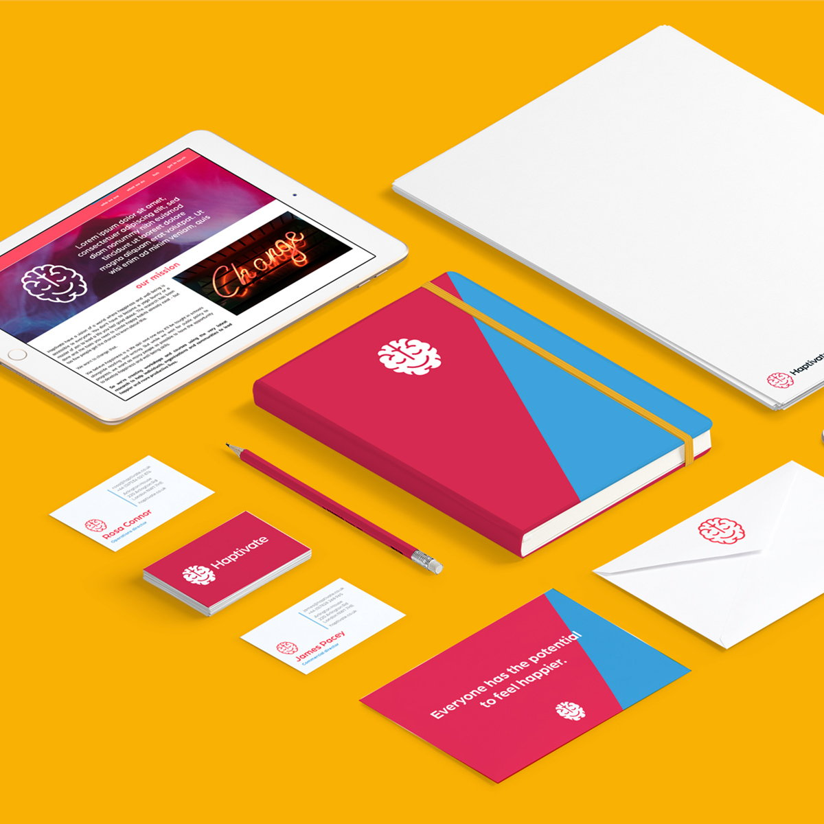 Straight Forward Design Creates Brand Identity and Comprehensive Business Strategy for Haptivate