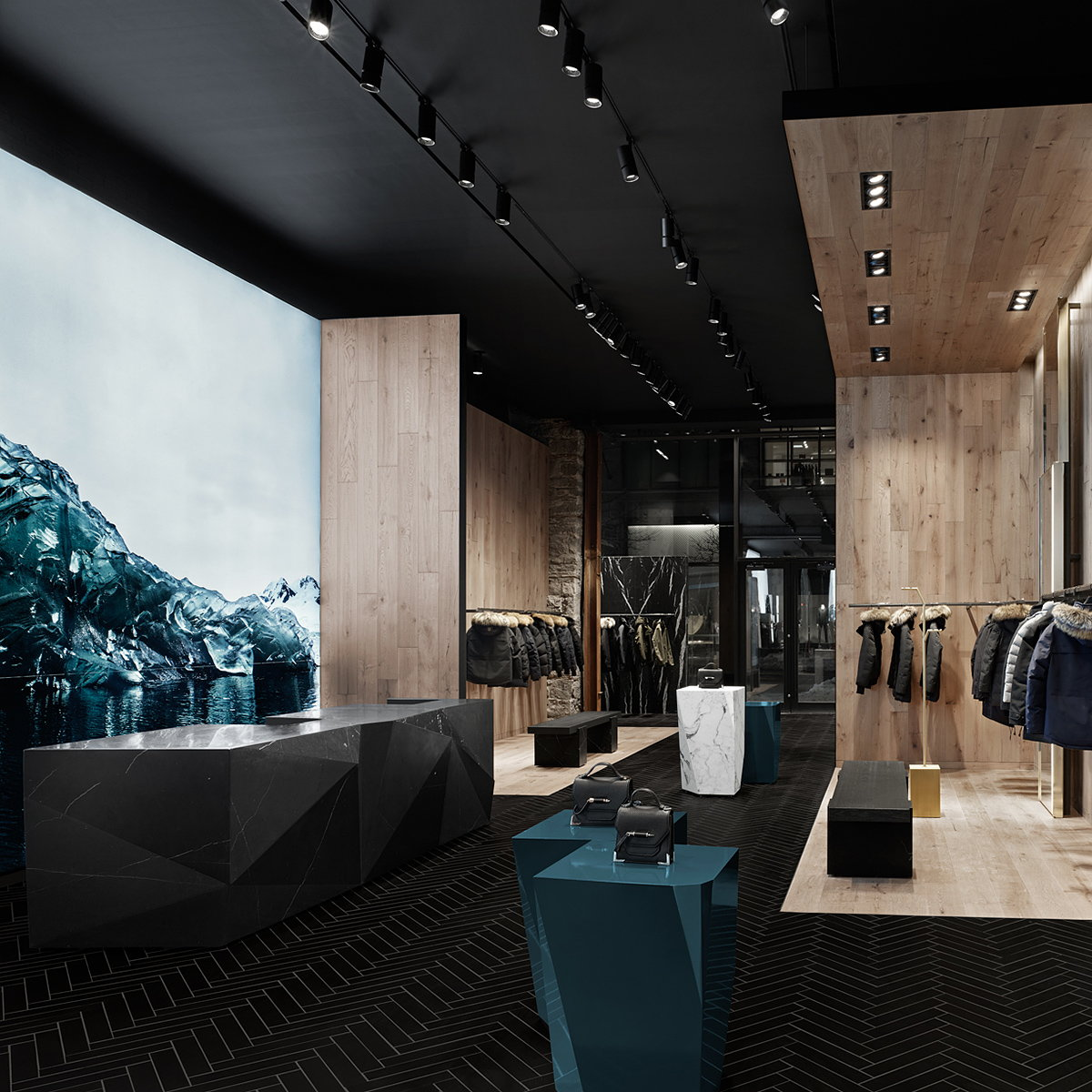 Burdifilek Designs Mackage's Montreal Flagship