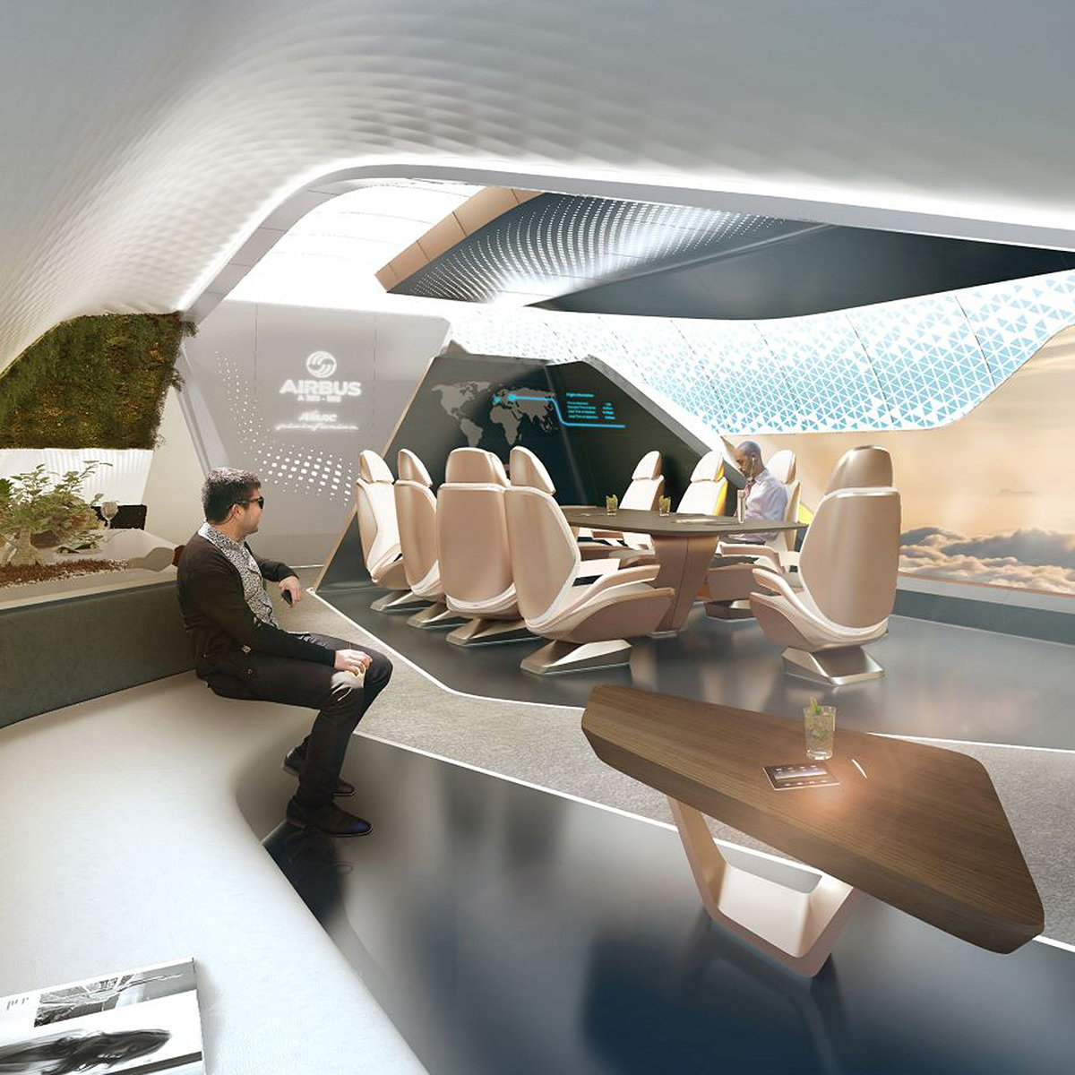 AMAC Aerospace and Pininfarina Unveil Innovative Cabin Concept for the Airbus A350-900