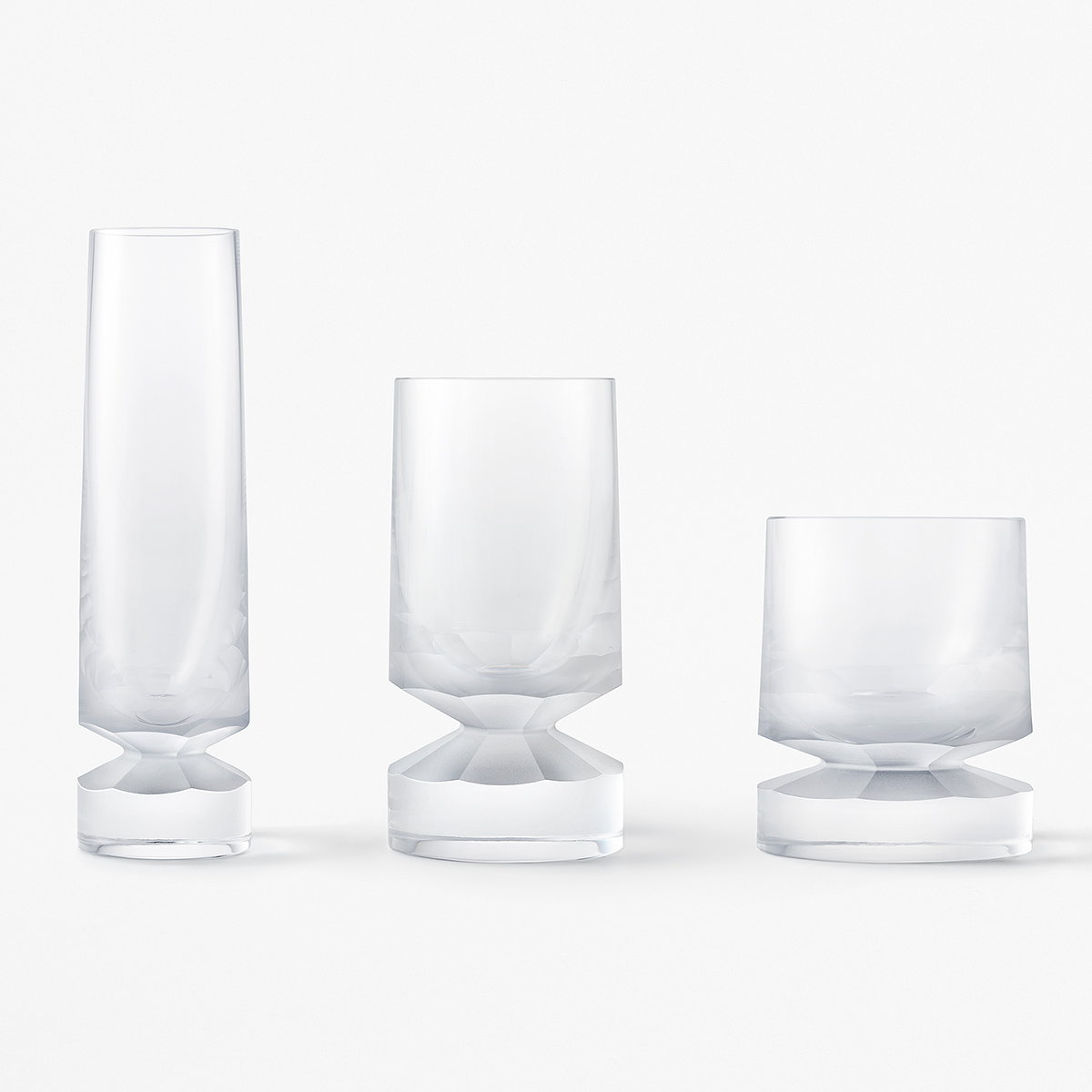 Nendo Designs Beaver Glassware Collection for Lasvit