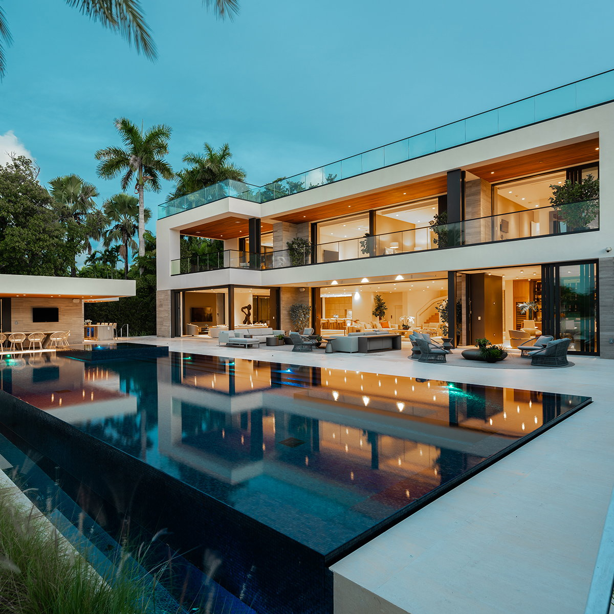 Choeff Levy Fischman Designs Three-Structure Modern Manse in Miami Beach