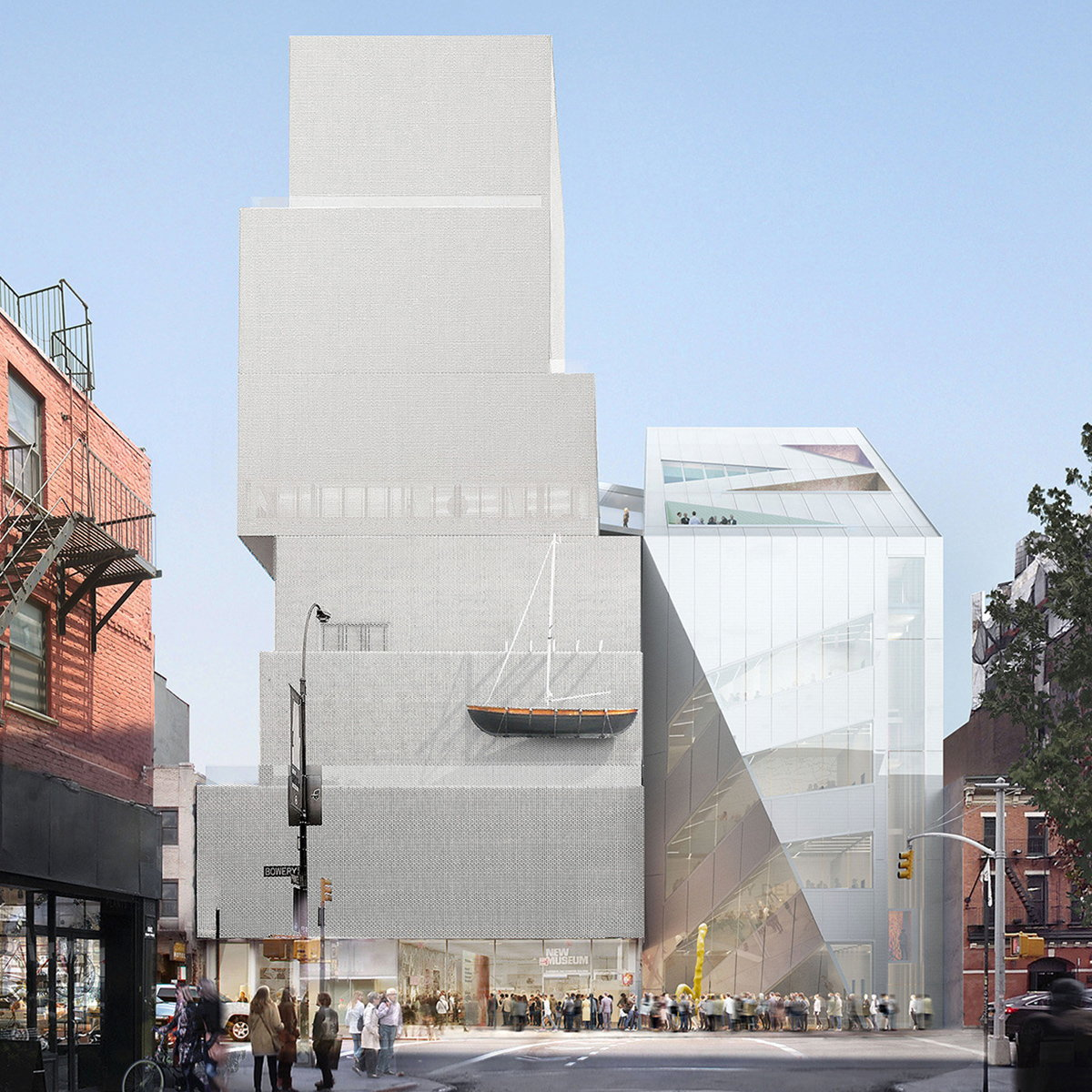 New Museum Unveils Design of Second Building by OMA
