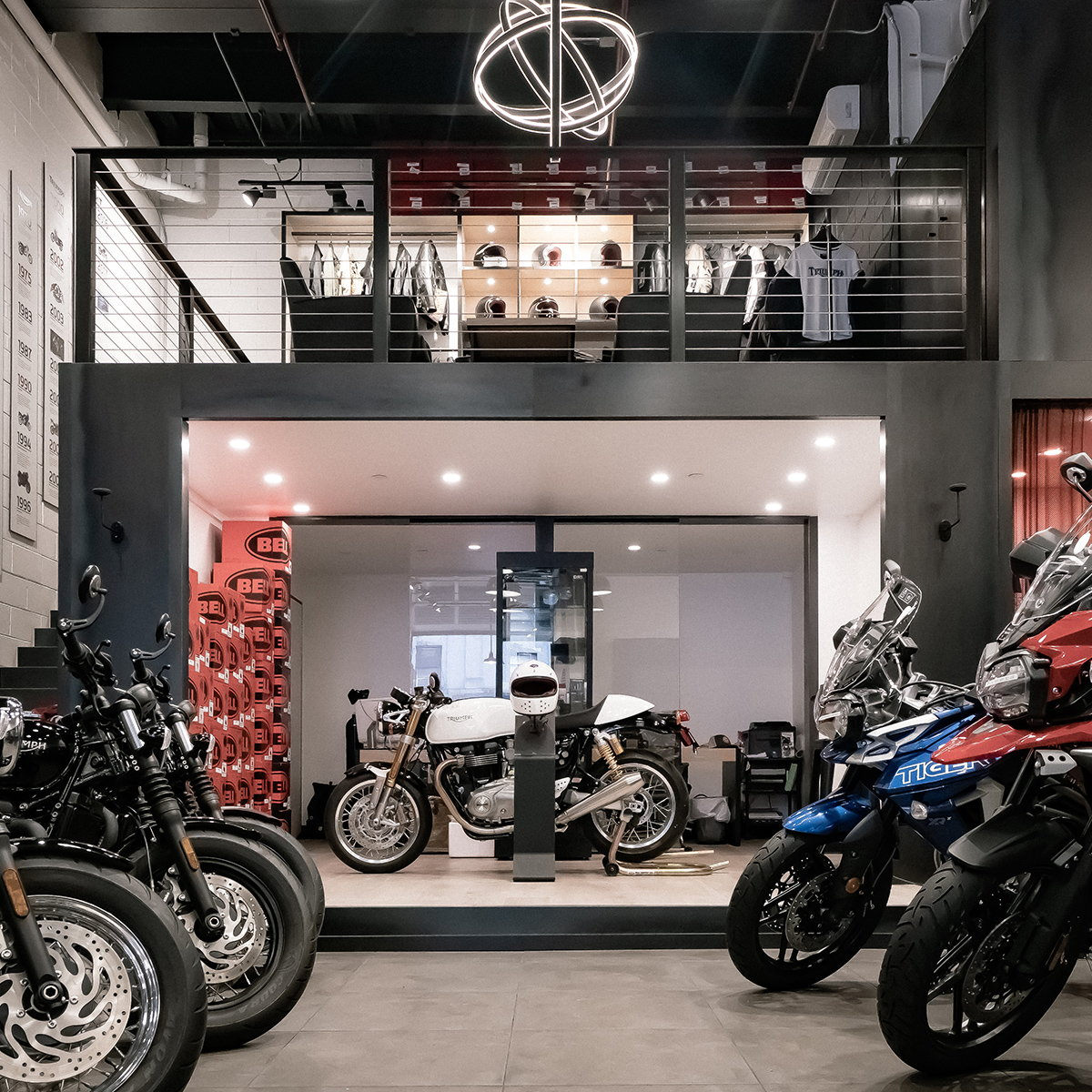 thread collective Completes Triumph's New Showroom in Brooklyn