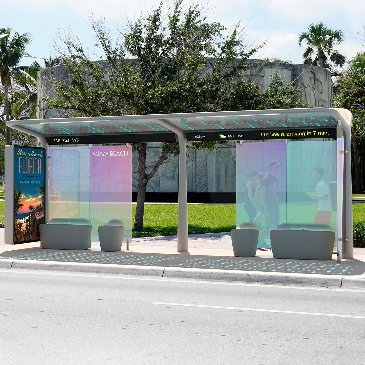 Pininfarina Wins 2019 Red Dot Design Concept Award for Miami Beach's Bus Shelters
