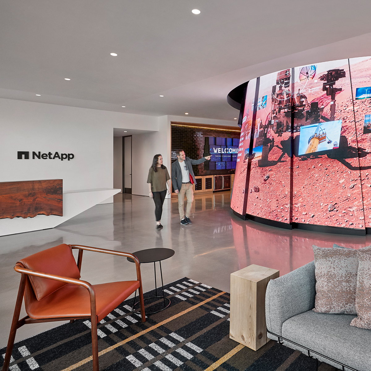 Studio O+A Designs Data Visionary Center and Training Facility for NetApp