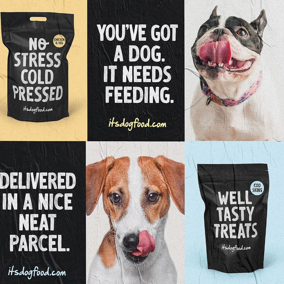 Robot Food Designs Branding for Dog Food Subscription Service