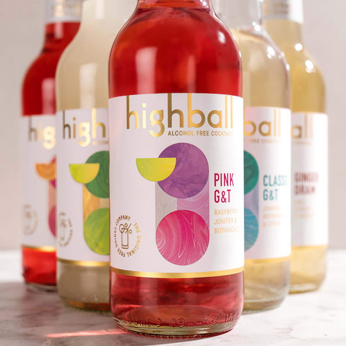 Path Designs Branding for Highball Alcohol-Free Cocktails