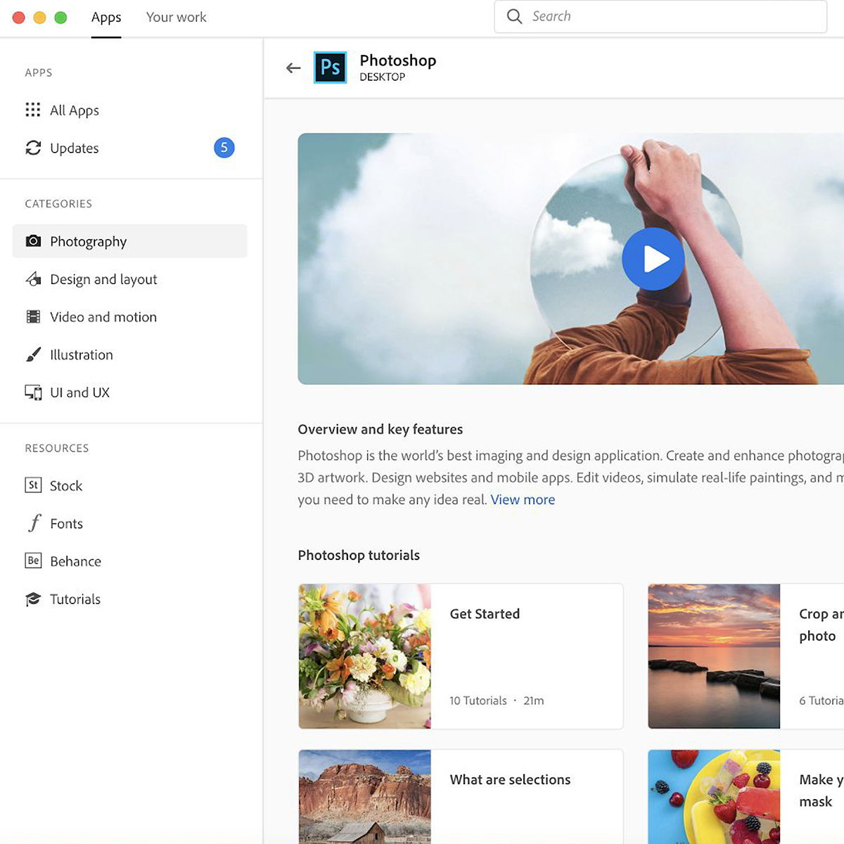 Adobe Releases Redesigned Creative Cloud Desktop App