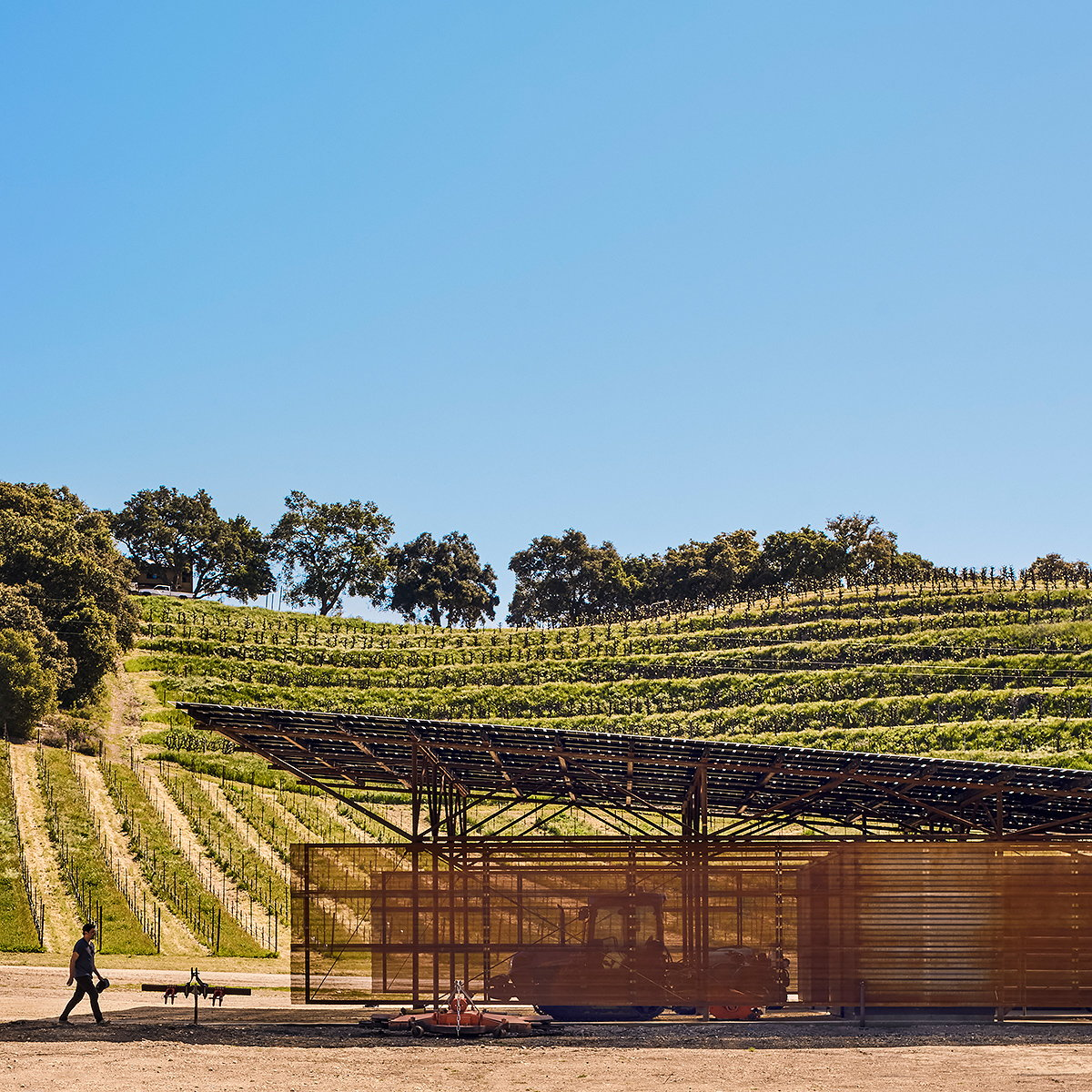 The Saxum Vineyard Equipment Barn by Clayton and Little