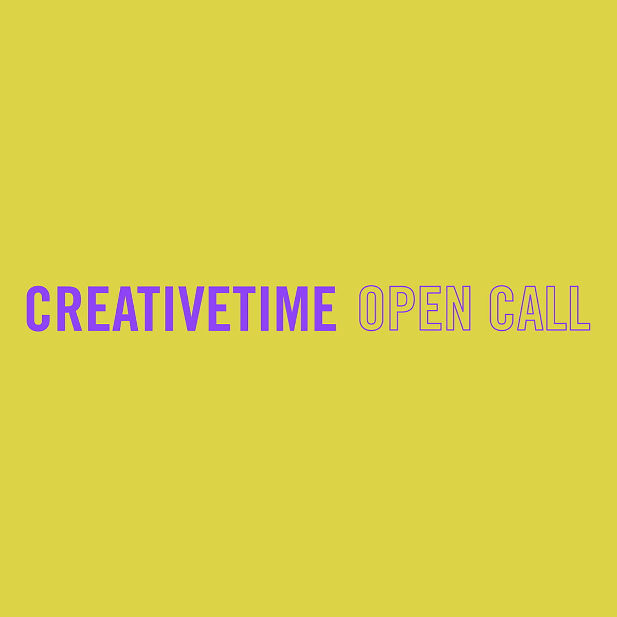 Creative Time Announces Second Emerging Artist Open Call