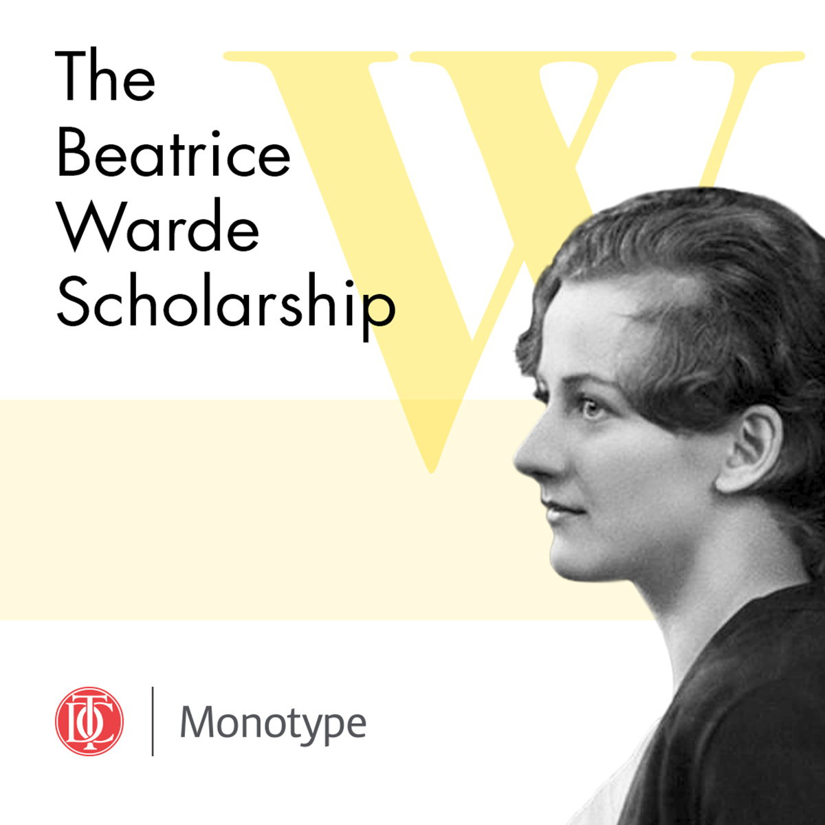 Type Directors Club and Monotype Launch 2020 Beatrice Warde Scholarship