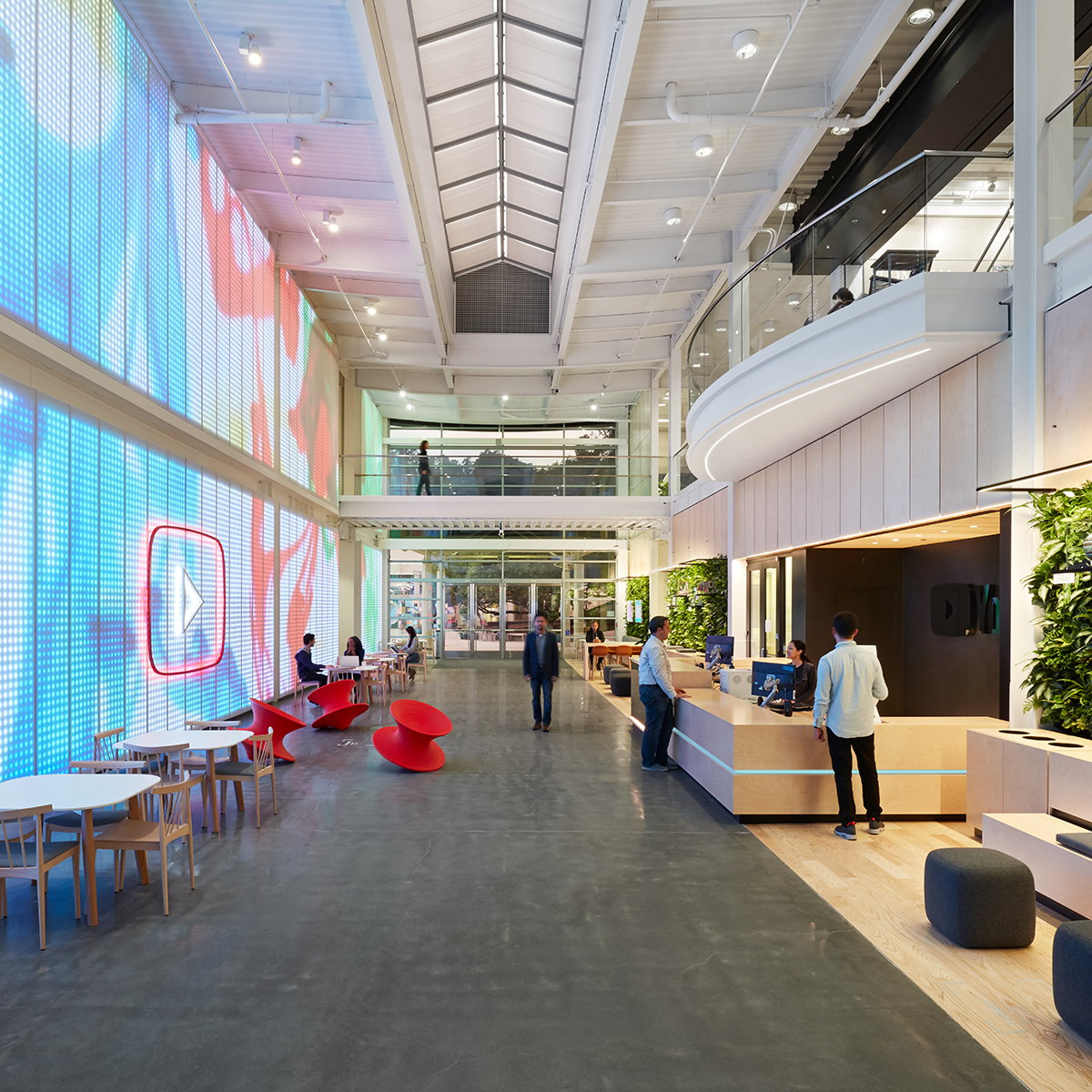 Valerio Dewalt Train and Office Of Things Designs New Lobby for YouTube HQ in San Bruno