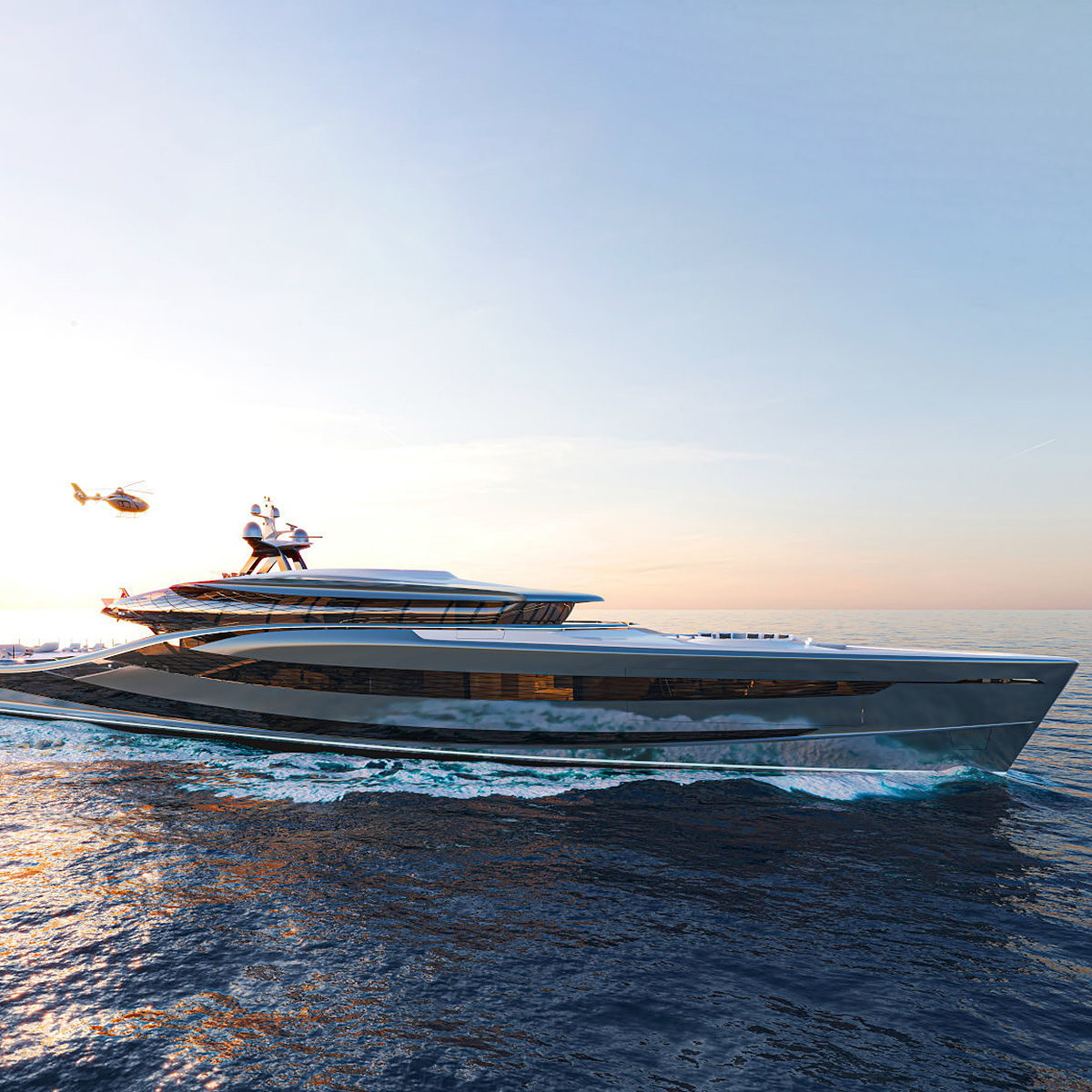 Vripack Unveils 66m Fossil-Free Hybrid Superyacht Concept 'Futura'