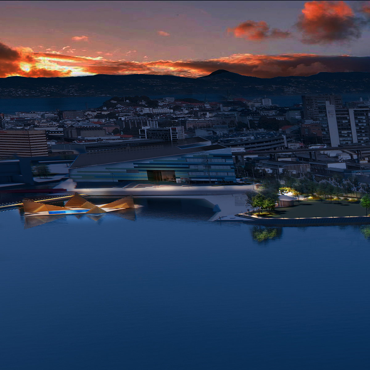 White Arkitekter Wins Competition to Design New Waterfront Park in Bergen
